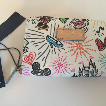 Disney Parks Sketch Wallet by Dooney & Bourke New with Tags