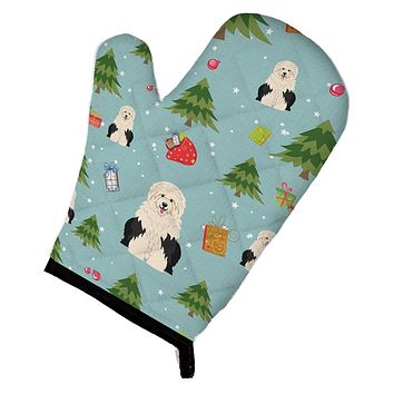 Christmas Old English Sheepdog Oven Mitt BB4756OVMT
