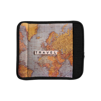"Sylvia Cook ""Travel Map"" World Luggage Handle Wrap"