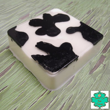 Cow Print Soap - Shea Butter Based, Detergent Free, Handmade Soap, Cow Soap, Farm Soap