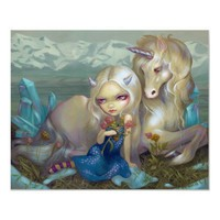 Fiona and the Unicorn ART PRINT ice fairy from Zazzle.com