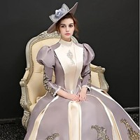 Rococo Costume Women's Dress Party Costume Rainbow Vintage