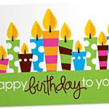 Birthday Party Blank Note Card