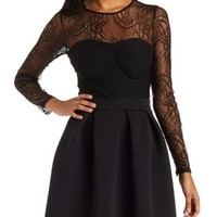 Black Lace Yoke Millenium Top by Charlotte Russe