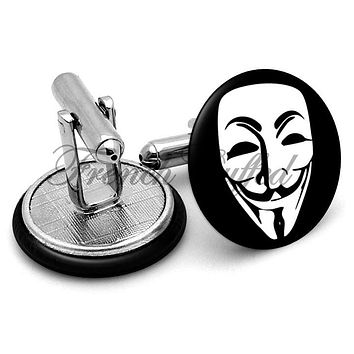 Anonymous Group Mask Cufflinks