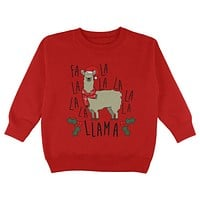 Christmas Fa La Llama Toddler Sweatshirt