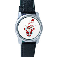 Santa Claus Ho-Ho-Ho Illustration Wrist Watch