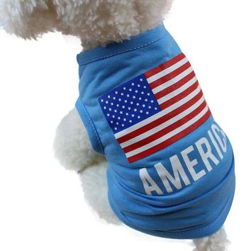 ac NOOW2 American Flag dog clothes for small dogs spring summer pet clothes summer dog clothes chihuahua roupa pet cachorro