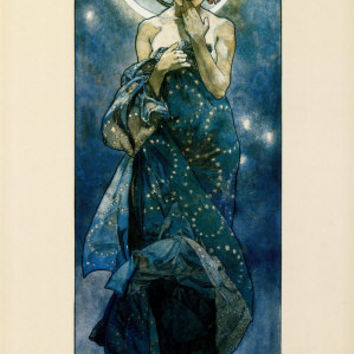 The Moon Print by Alphonse Mucha at AllPosters.com