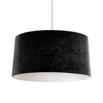 Black Brocade Pendant Lamp