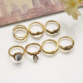 Vintage Ring Style Heart Set [521517465654]