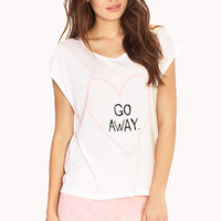 FOREVER 21 Go Away PJ Set