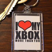 Funny Keychain - I Heart my Xbox more then You  - Hillarious Funny Adult Humor Novelty Keychains