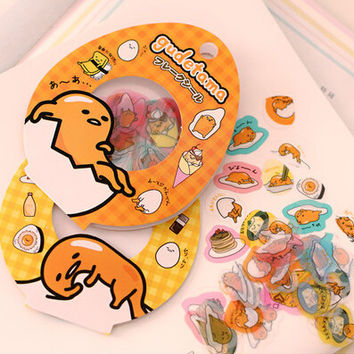 60 pcs pack Sanrio Gudetama Lazy Egg Sealing Stickers Diary Label Stickers Pack Decorative Scrapbooking DIY Stickers