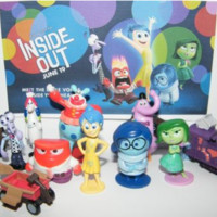 Disney Inside Out Movie Figure Set Toy of 12 w/ 5 Emotions, Bing Bong, Jangles