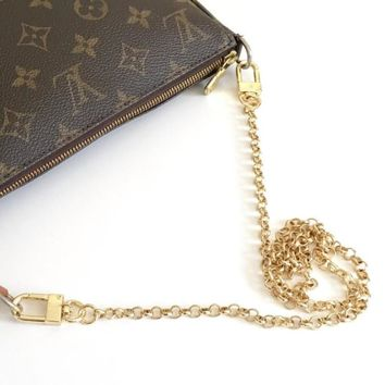 Louis Vuitton Gold Chain Strap (Rolo Cut)