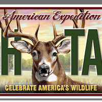 Metal License Plate for Car or Truck - Whitetail Deer