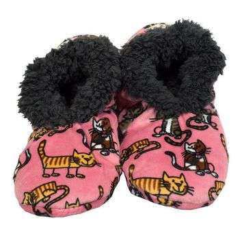 Chenier Cat Nap Fuzzy Feet Womens Slippers