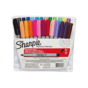 Sharpie Ultra-Fine-Point Permanent Markers, 24 Colored Markers (75847)