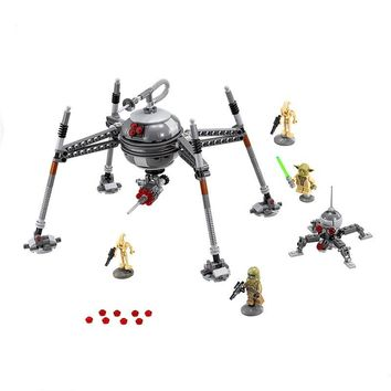 Star Wars Force Episode 1 2 3 4 5 320pcs  Homing Spider Droid Master Model Building Block Toys Figure Gift For Children Compatible With LegoINGly war AT_72_6