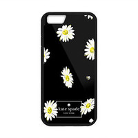 New Kate Spade White Flower In Black Hard Case Cover For iPhone 6s 6s Plus 7 7+