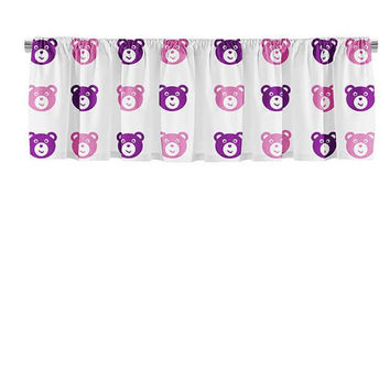 Teddy Bear Pattern Valance