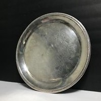 "Vintage F.B. Rogers Silver Company 12 1/2"" Round Serving Tray"
