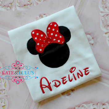 Minnie Mouse embroidered shirt top - Minnie Mouse Shirt - Dinsey trip - Minnie Birthday Shirt - Minnie Mouse
