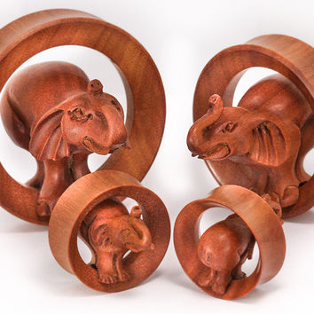 ELEPHANT 3D SABA Wood Tunnels — Plug Club