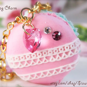 Decoden Lace Macaron Bag Charm/Necklace