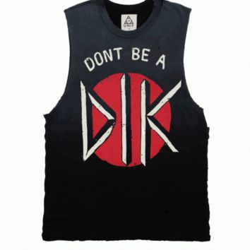 Unif – Don't Be A D.I.K Muscle Tank In Black | Thirteen Vintage