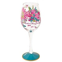 Hand-painted Wine Glass in Trippin' and Sippin' by Lilly Pulitzer