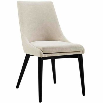 Viscount Fabric Dining Chair, Beige
