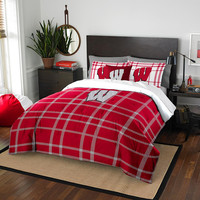 Wisconsin Badgers NCAA Full Comforter Set (Soft & Cozy) (76 x 86)