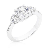 Graduated Engagement Classic Ring, size : 09