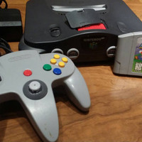 Nintendo 64 n64 console bundle video game + Super Mario 64 + expansion pak system FREE SHIPPING