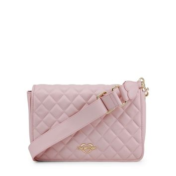 Love Moschino Pink Synthetic Leather Crossbody Bag
