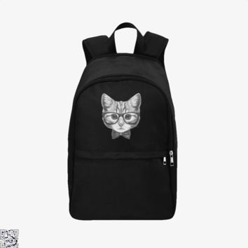 Cat With Glasses And Bow Tie, Cat Backpack