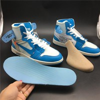 "OFF-WHITE x Air Jordan 1 ""Powder Blue"" Basketball Shoe"