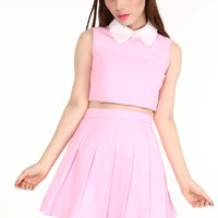 PRE ORDER - As if Sleeveless Set in Baby Pink