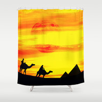 Egyptian supermoon Shower Curtain by Pirmin Nohr