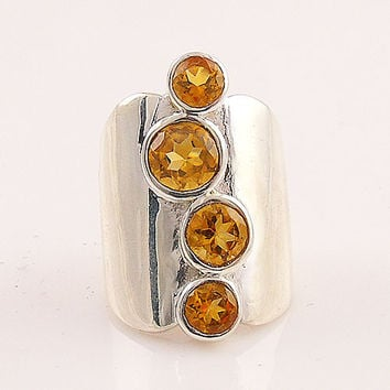 Citrine Sterling Silver Jessica Ring