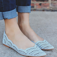 Spring Fever Flats - Baby Blue