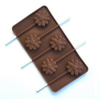 Lollipop Silicone Cake Chocolate Soap Mould Tool Candy Cookies Baking Mold Tray