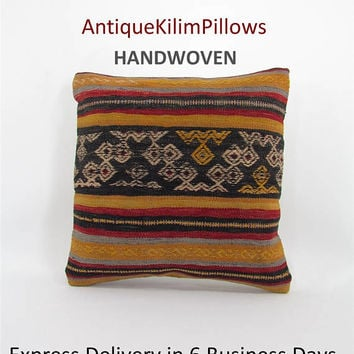 outdoor pillow kilim pillow cover bohemian pillow boho outdoor decoration pillow hippie pillow decorative pillow for patio furniture 000476