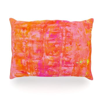 "CarolLynn Tice ""Wiggle"" Orange Oblong Pillow"