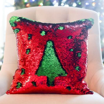 Holiday Mermaid Pillow [Limited Edition] | COVER ONLY (Inserts Sold Separately)