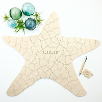 STARFISH Puzzle Wedding Guest Book