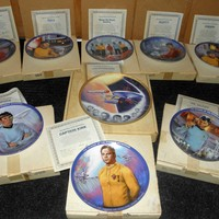 Vintage 1985 The Hamilton Collection Complete Set of 9 Star Trek Plates