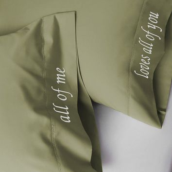 Luxor Linens Embroidered Pillowcase Set